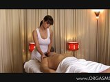 Beautiful busty masseuse give orgasms
